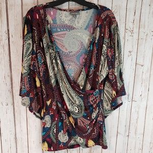 Roz and Ali blouse top XL
